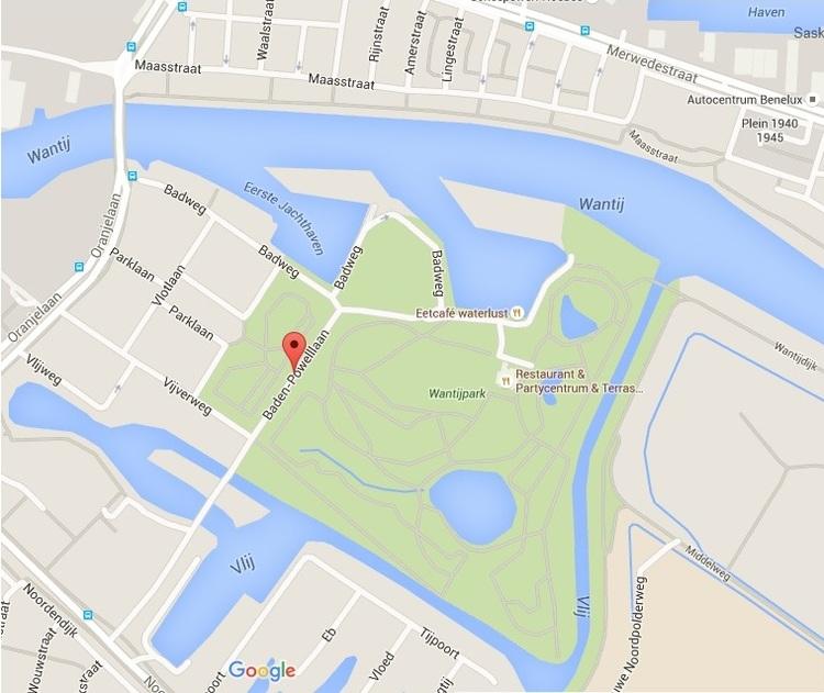 Locatie wantijpark van de bootcamptraining dordrecht van de beweegtherapeut