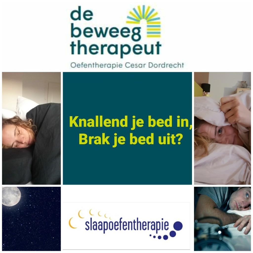 Slaapoefentherapie door de beweegtherapeut. De oplossing voor uw slaapproblemen. (ook online)